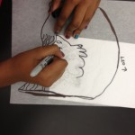Students at Woodlands draw their own patterns